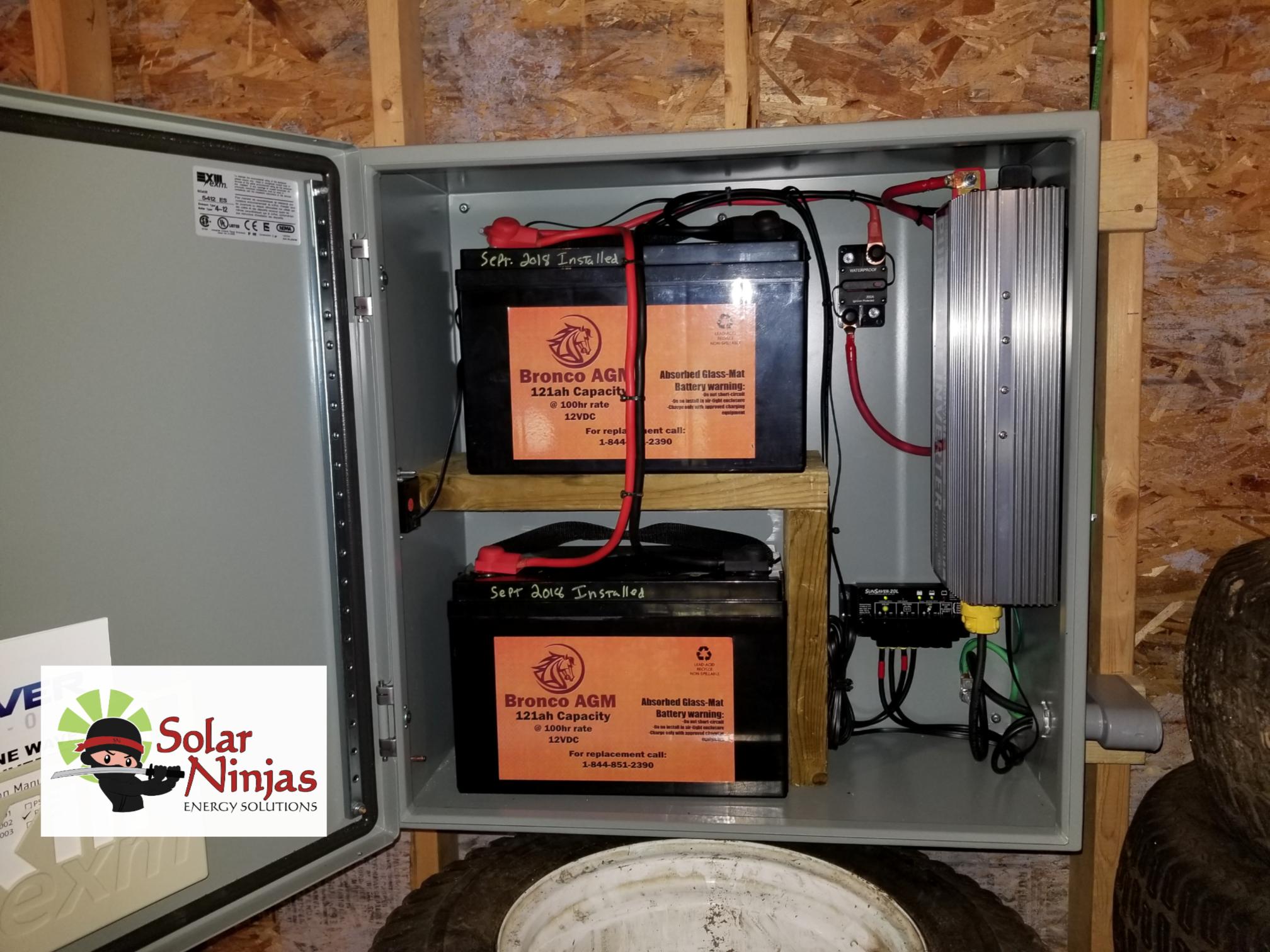 Solar PV Batteries & Inverter