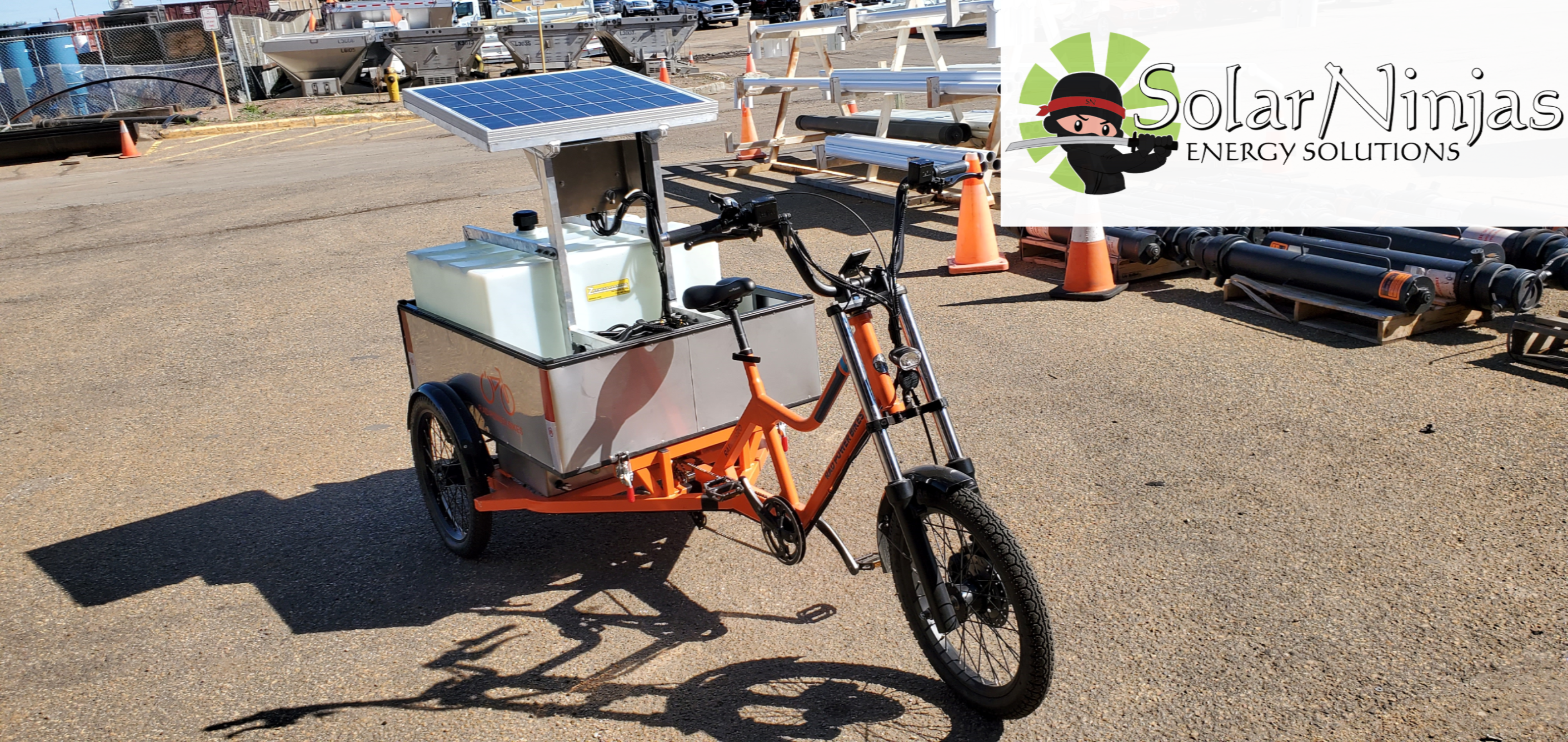 Utility E-Bikes with solar power!